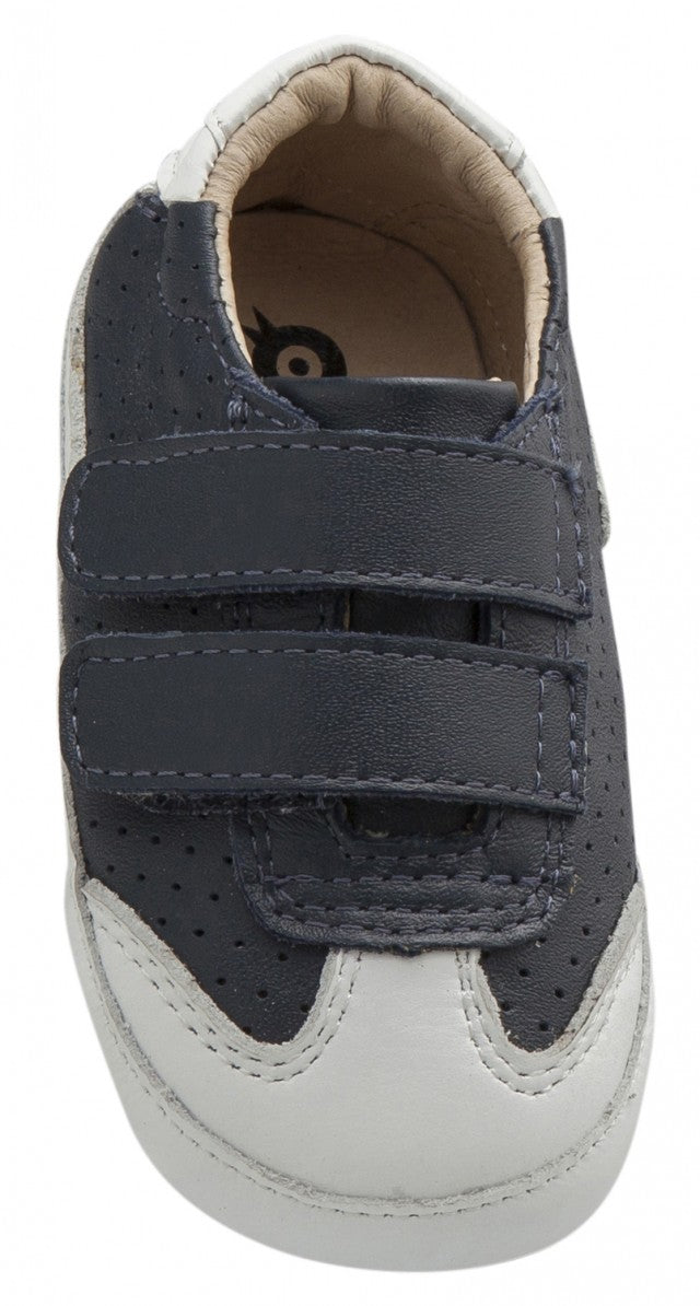 Old Soles Girl's and Boy's 0025R Chaser Sneakers, Navy/Snow