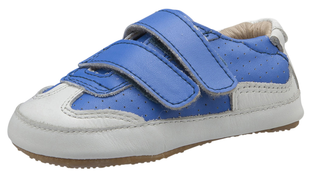 Old Soles Girl's and Boy's 0025R Chaser Sneakers, Neon Blue/Snow