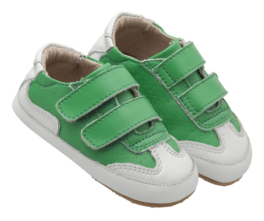 Old Soles Girl's and Boy's 0025R Chaser Sneakers, Neon Green/Snow