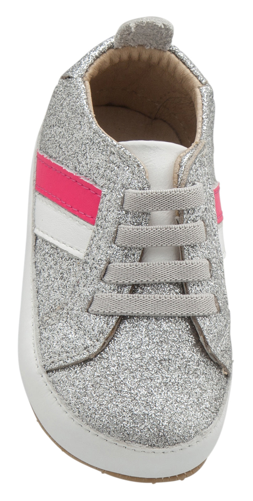 Old Soles Girl's 0028R Iggy Shoe, Glam Argent/Snow/Neon Pink