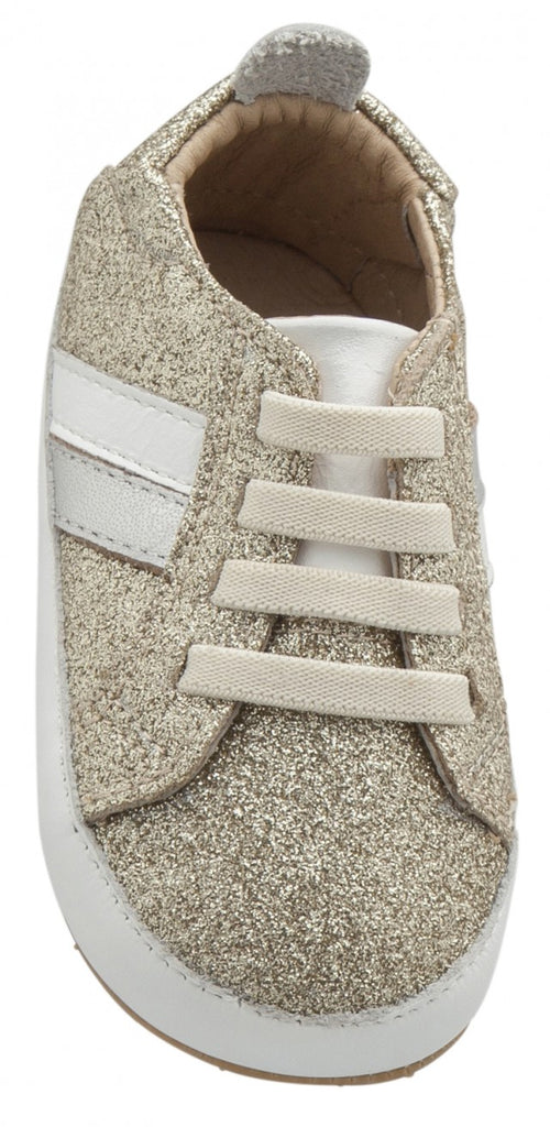 Old Soles Girl's 0028R Iggy Shoe, Glam Gold/Snow/Silver