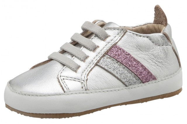 Old Soles Girl's 0028R Iggy Shoe, Silver/GlamArgent/GlamPink/Snow