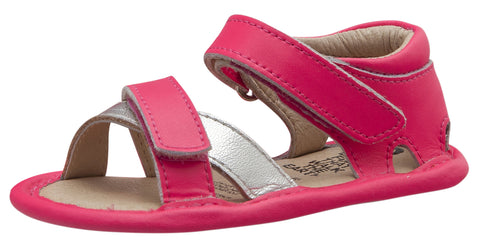 Old Soles Girl's Floss Sandals, Neon Pink/Silver