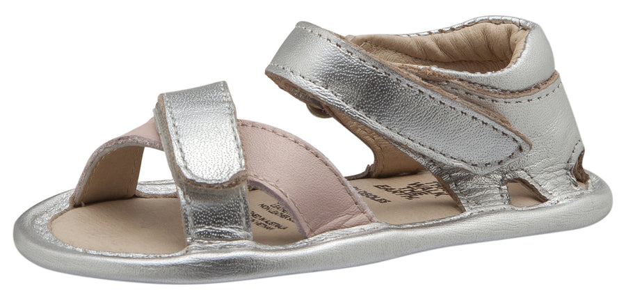 Old Soles Girl's Floss Sandals, Silver / Powder Pink
