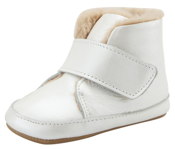 Old Soles Softly Leather Slip On Bootie Crib Walker Baby Shoes - Nacardo Blanco