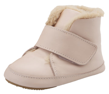 Old Soles Softly Leather Slip On Bootie Crib Walker Baby Shoes - Powder Pink