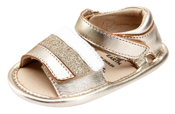 Old Soles Girl's 0035 Mini Jetsetter Walker Sandals - Gold/Snow/Glam Gold