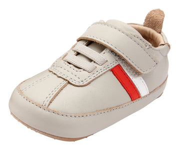 Old Soles Boy's and Girl's 0039R Rework Shoes - Gris/Snow/Bright Red/Gris