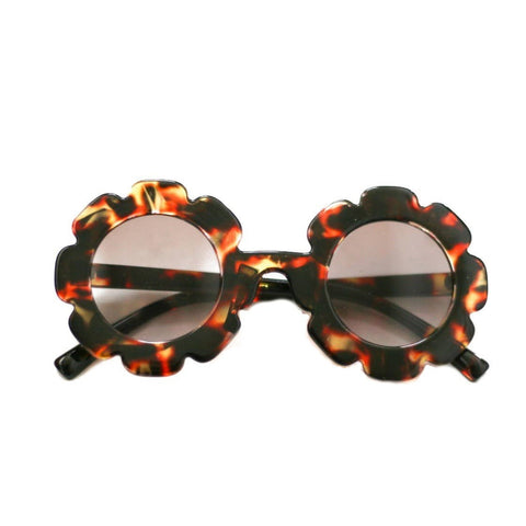 Blueberry Bay Flower Sunglasses, Brown