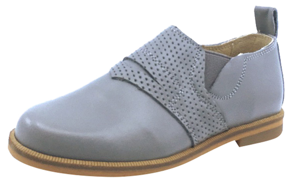 Luccini Boy's and Girl's Slip-On Loafer, Grey