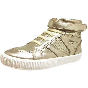 Old Soles Girl's 1008 Star Jumper High Top Sneaker Gold