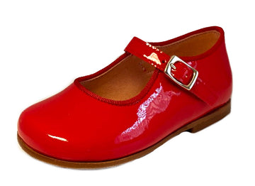 Clarys Girl's Rojo Buckle Mary Jane Shoes, Red