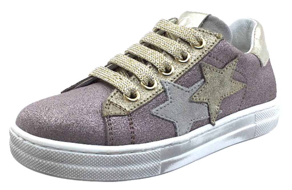 Naturino Girl's Blues Zip Sneakers Tennis Shoes, Rose Gold