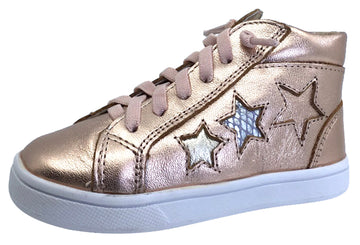 Old Soles Girl's Star Shiny Copper Hightop Elastic Laces