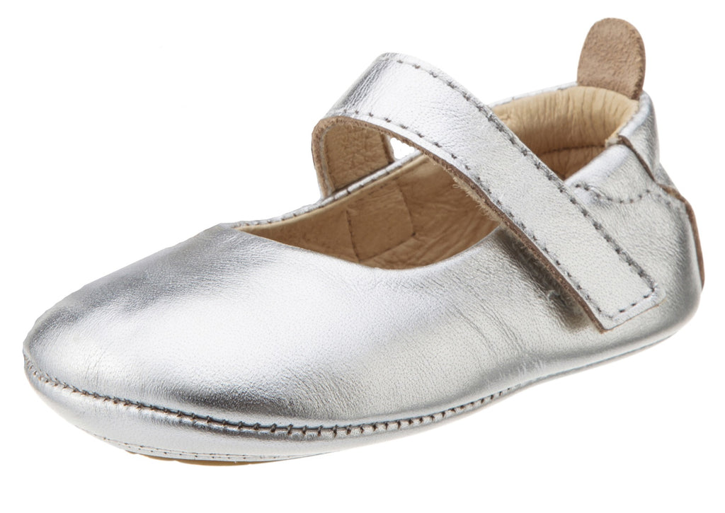 Old Soles Girl's 022 Silver Leather Gabrielle Mary Jane Shoe