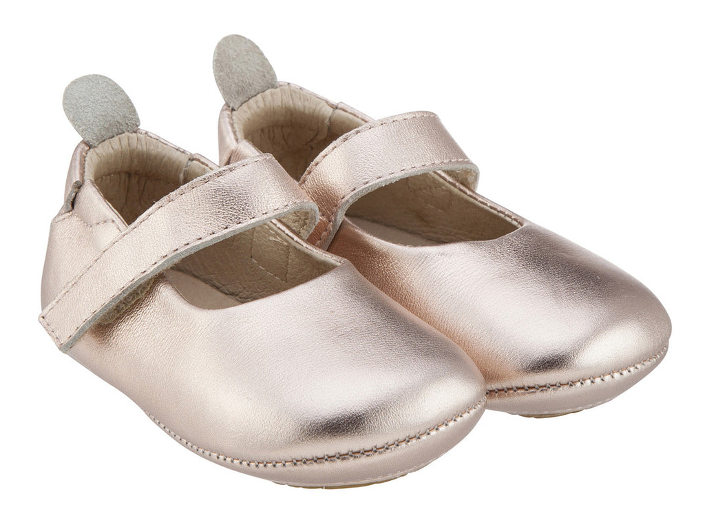 Old Soles Girl's 022 Gabrielle Copper Soft Leather Mary Jane Crib Walker Baby Shoes