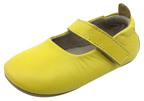 Old Soles Girl's Gabrielle Yellow Soft Leather Mary Jane Crib Walker Baby Shoes 20 M EU/4 M US Toddler