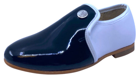 Luccini Boy's & Girl's VIRGINIA Slip On Shoe - Black/White