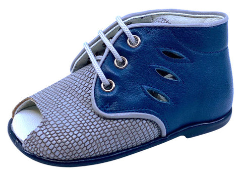 Pataletas Boy's and Girl's Blue Patent Leather Shoe