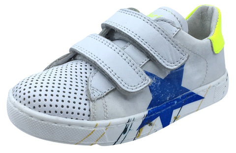 Naturino Boy's and Girl's Arlon Star Fashion Sneakers, Bianco/Giallo