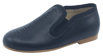 Luccini Cut Iris Slip-On Smoking Loafer, Black