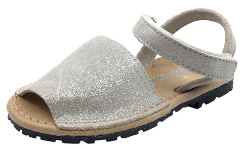 ChildrenChic Girl's Menorquina Sandals, Beige Shimmer