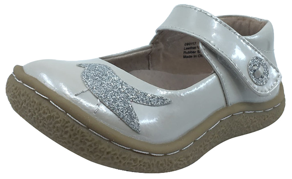 Livie  Luca Girls Pio Pio Cloud Shimmer Patent Leather with Sparkly Dove  Detail Mary Jane