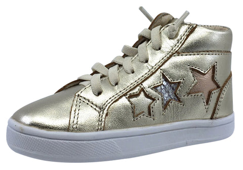 Old Soles Girl's and Boy's Star Gold Hightop Elastic Laces