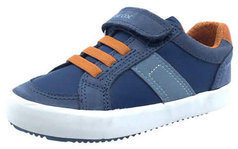 GEOX Boy's Alonisso Sneakers, Blue/Orange