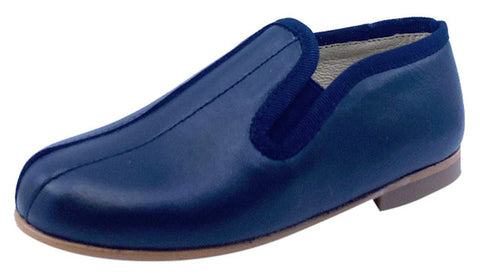 Luccini Boy's SPLENDID Piso Point Leather Slip On - Navy