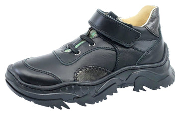 Naturino Girl's and Boy's Axel Shoes, Vitello Nero