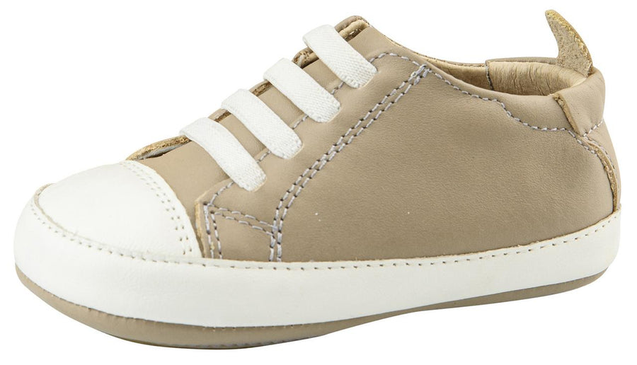 Old Soles Boy's Eazy Tread Sneaker Trainer Tennis Shoes, Taupe