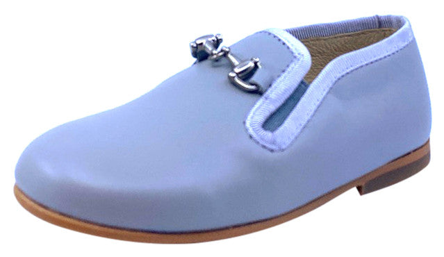 Luccini Boy's BA158 CHA Piso Point Natural Loafer - Grey