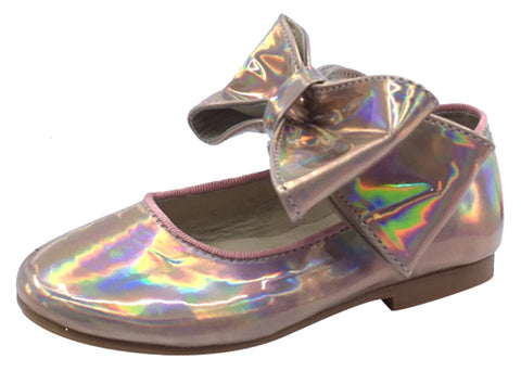 Luccini Girl's Mary Jane with Big Bow, Copper