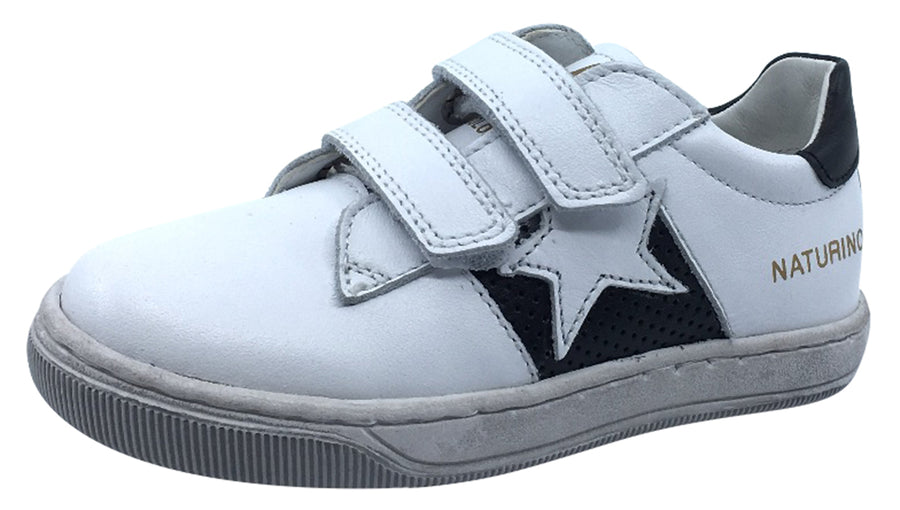 Naturino Boy's Andy Sneakers Tennis Shoes, White-Black