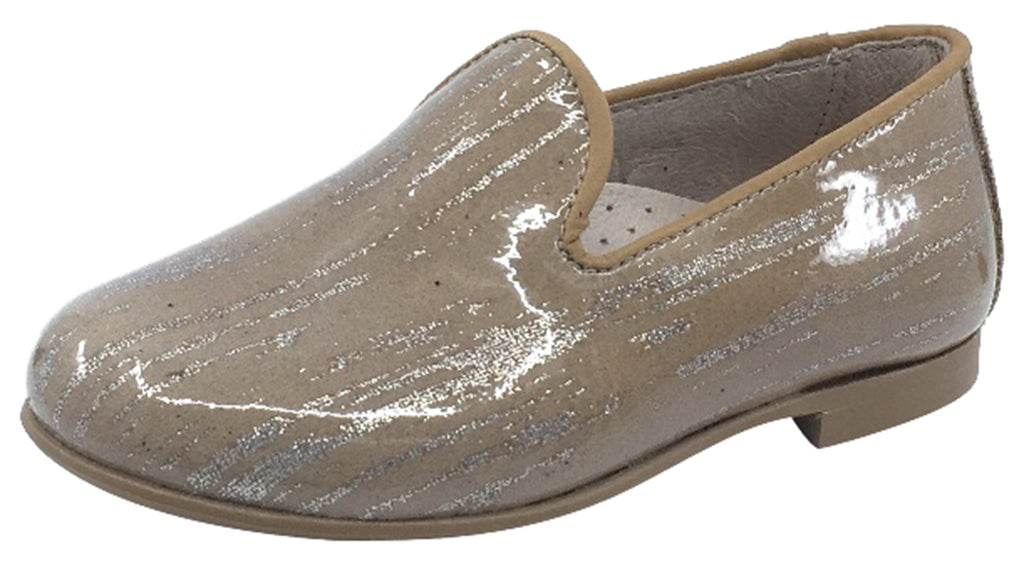 Hoo Shoes  Boy's and Girl's Smoking Loafer, Tan Marble