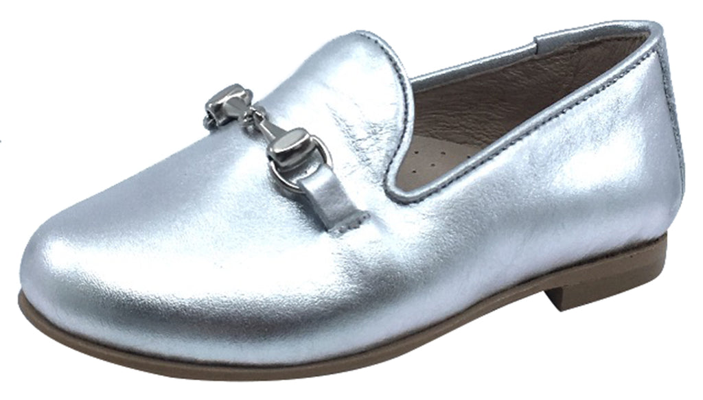 Hoo Shoes Chain Smoking Loafer, Silver