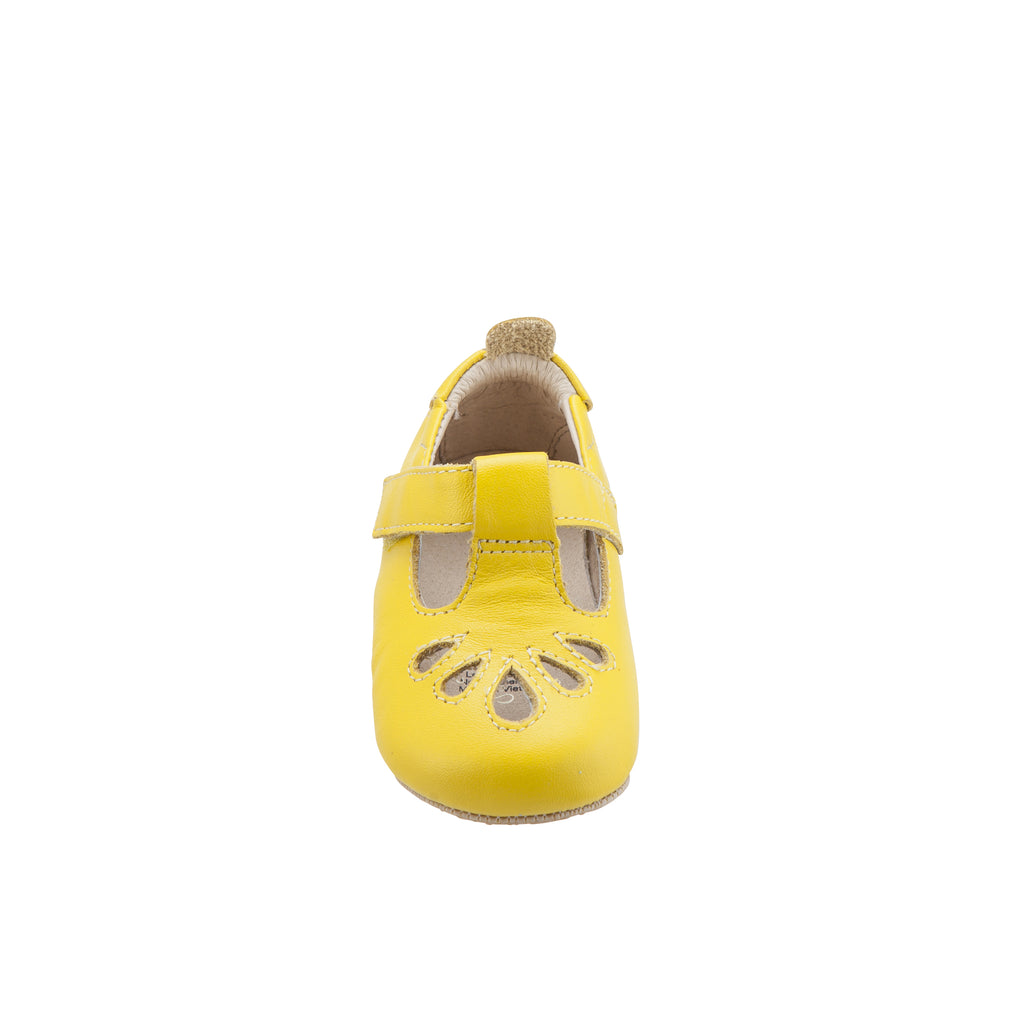 Old Soles Girl's Petal T-Strap First Walker Mary Jane, Sunflower