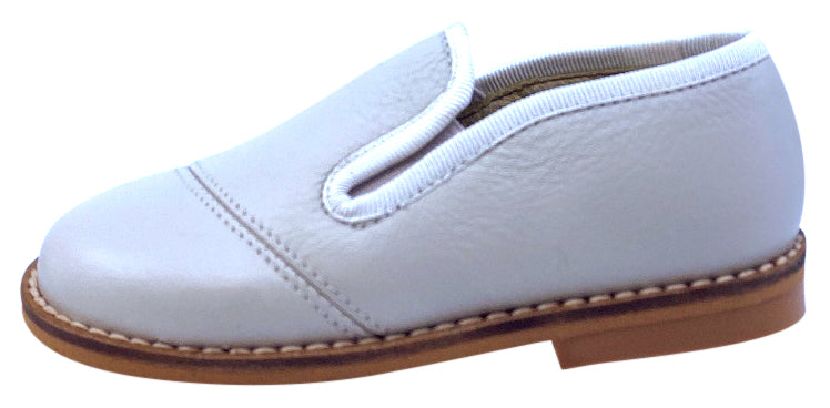 Luccini Boy's BASIL Piso Point Natural Loafer - Light Grey Perla
