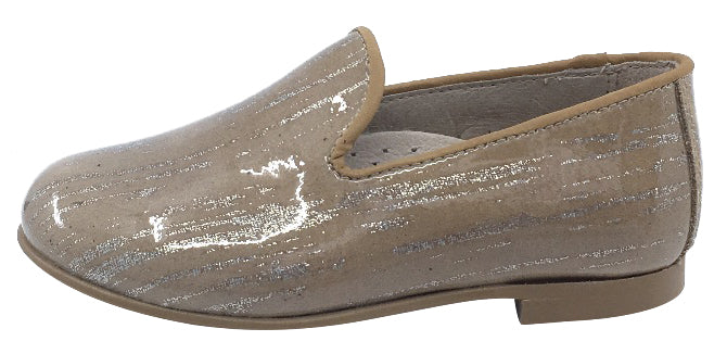 Hoo Shoes Smoking Loafer, Tan Marble