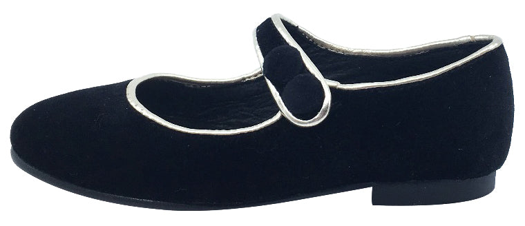 Luccini Girl's Mary Jane with Light Gold Trim (Black)