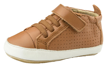 Old Soles Girl's & Boy's Bambini First Walker Sneakers - Tan/White