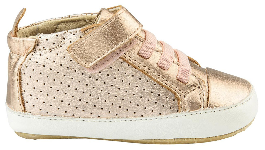 Old Soles Bambini First Walker Sneakers, Copper/White