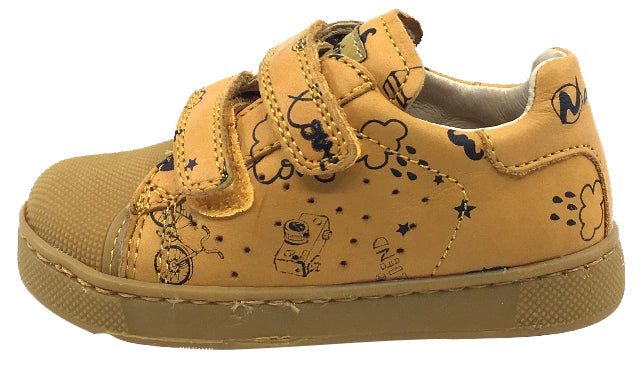 Naturino Boy's and Girl's Bree Sneaker Tennis Shoes, Zucca Mustard