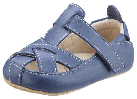 Old Soles Boy's and Girl's Denim Blue Thread Fisherman Leather Sandals