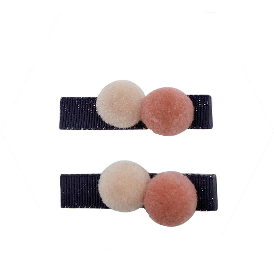 Five / Eleven Hairclip Pom Pom H Dark Rose Pink