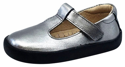 Old Soles Girl's Tod - T Strap Shoes, Rich Silver