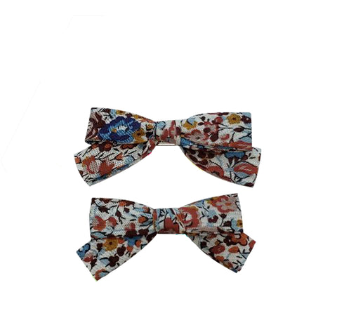 Five / Eleven Hairclip Liberty Bow H Floral Multi