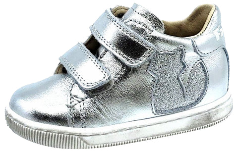 Naturino Falcotto Girls KLINGON Shoes, GLITTER ARGENTO