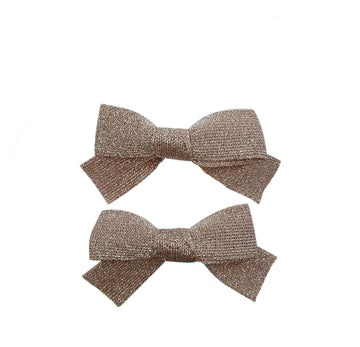 Five / Eleven Hairclip Japanese Bow H Metallic Silver